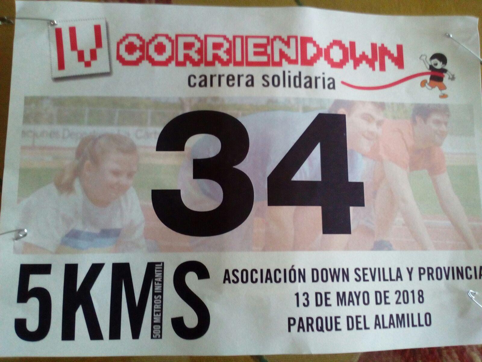 Pedro Artajo  corrió en la «IV Corriendown» disputada en Sevilla