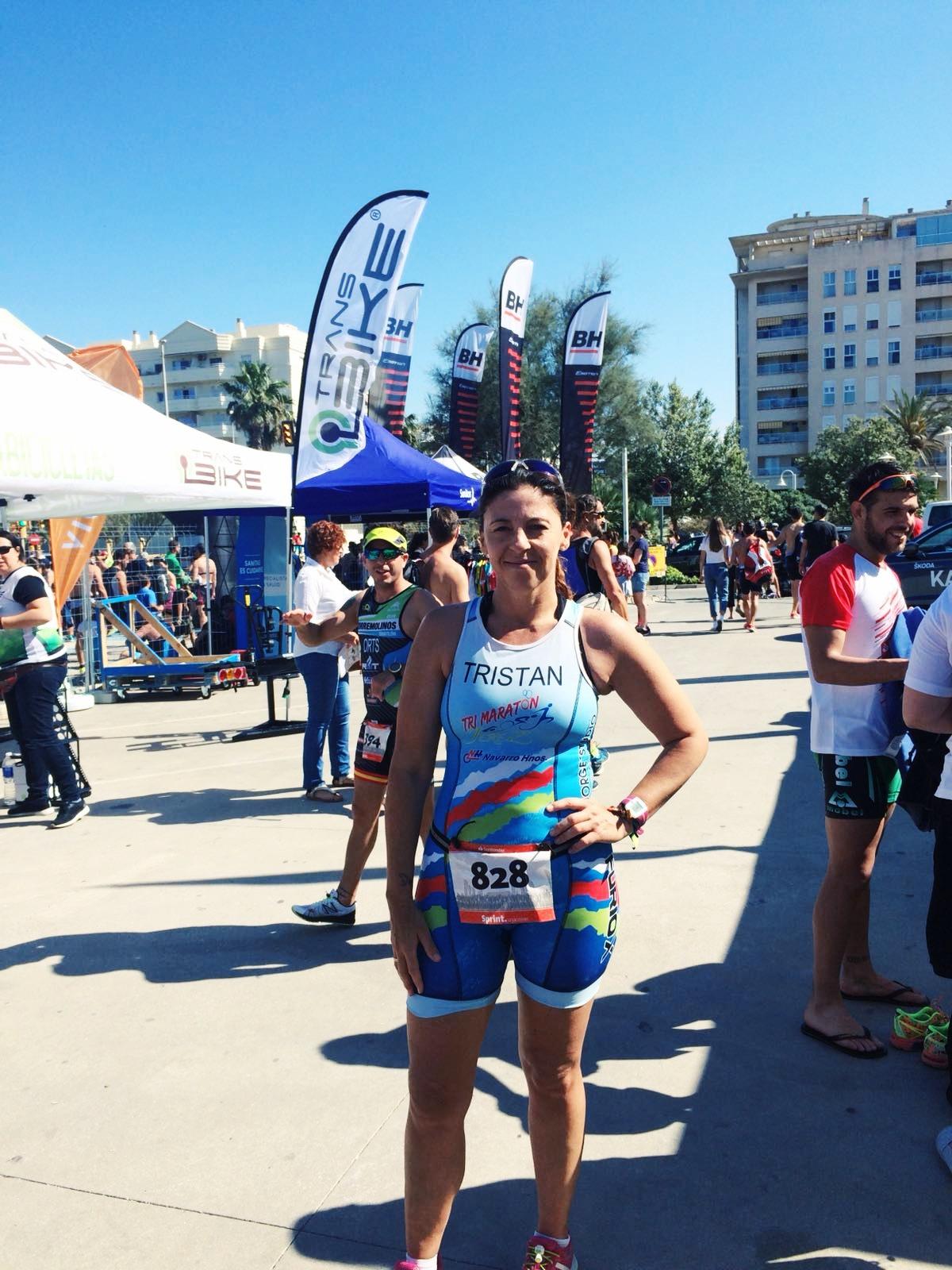 Muy bien Regla Tristan en el «Santander Triathlon Series 2018-Malaga»