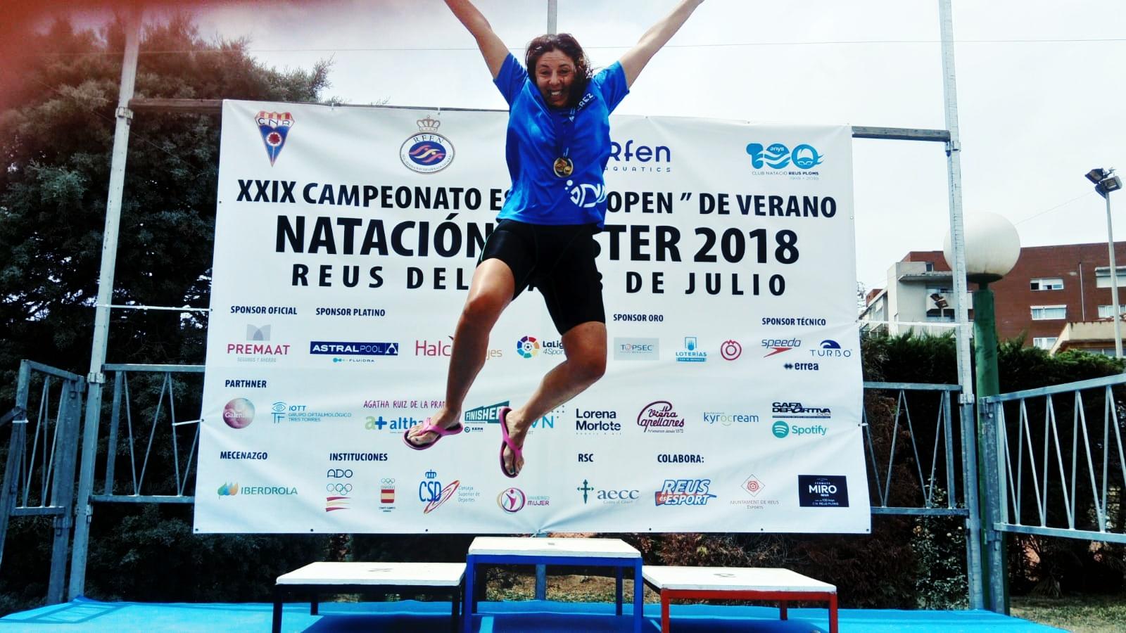 Regla Tristan «ORO» en el 4x100m en el Cto. de España Open de Verano Natación Master