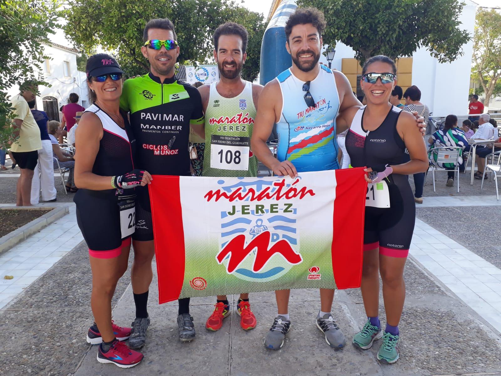 Mª José Valle, Laura Pérez, Alberto Martino y Rubén vencedores en el «VIII Duatlón Cross San Isidro del Guadalete».