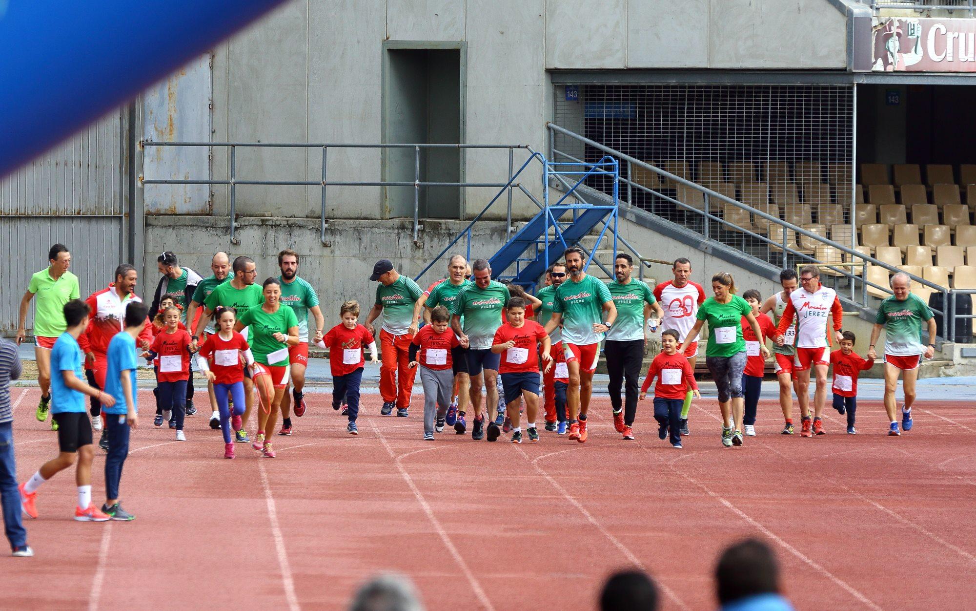 Los grandes vencedores en la XXXIX Carrera Popular de Jerez, nuestros niñ@s de la Escuela de Atletismo Adaptado del Maratón Jerez