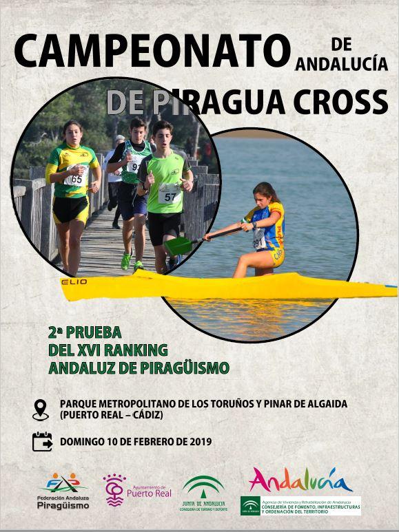 David Ocaña el «12» en K1 M/40-44 en el «Campeonato de Andalucía de Piragua Cross»,