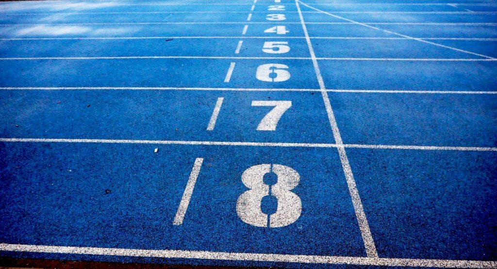 salida- calles 1 al 8 pita atletismo