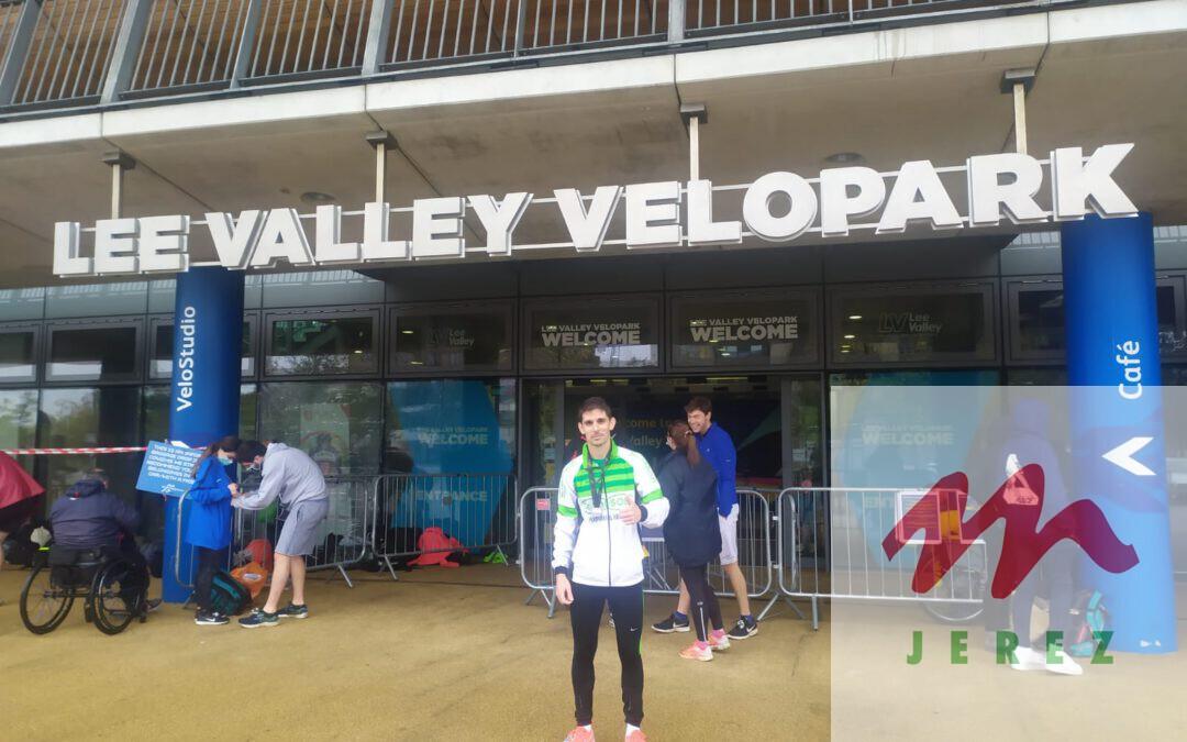 """Antonio Martin Romero Vencedor Absoluto en la prueba """"Lee Valley VeloPark 10km."""""""
