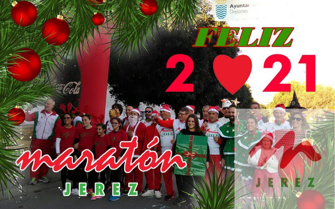 La A.D. Maratón Jerez les desea a tod@s un  ¡¡FELIZ 2021!!  muy prospero, lleno de paz y salud
