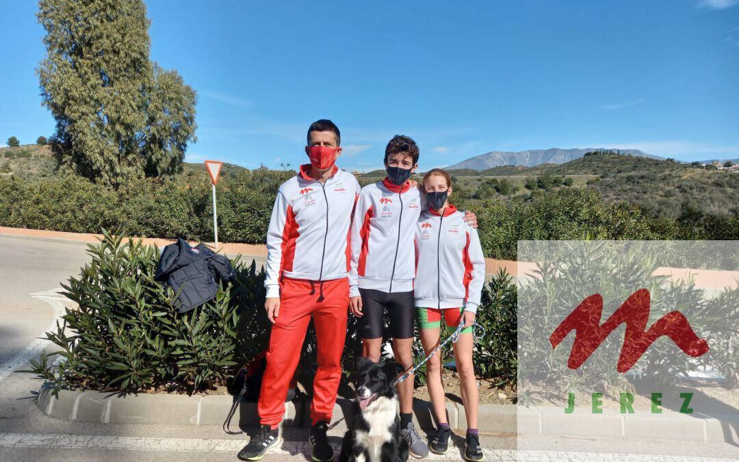 Gran actuacion de los Sub16 Julia Rendon, Mateo Jimenez y el Senior Antonio Martin en el Cto. de Andalucia de Campo a Traves