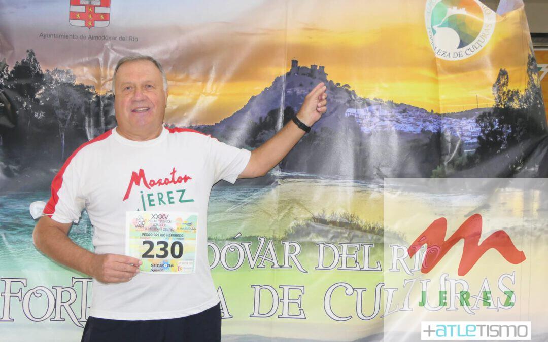 Pedro Artajo (el Maño) Participo en la «XXXV Media Maraton Cordoba Almodovar» teniendo el Honor de ser el unico corredor que ha participado y terminado las XXXV Ediciones
